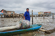 2016/10/05 - Chamanga, Ecuador: Elias Alejandro, 46, is a fisherman in Chamanga, Ecuador, and lost his house during the 16th April earthquake, 5th October 2016. He now lives with his wife and five children in a makeshift house owned by his mother-in-law. Getting a new house is not only his main worry. Since the earthquake there isn't much fish on the sea, making the survival of him and his family even more difficult. Elias now hopes to get some help from the Government to build a new house, but he doubts it will ever come since he lives in what is consider a high-risk area. (Eduardo Leal)