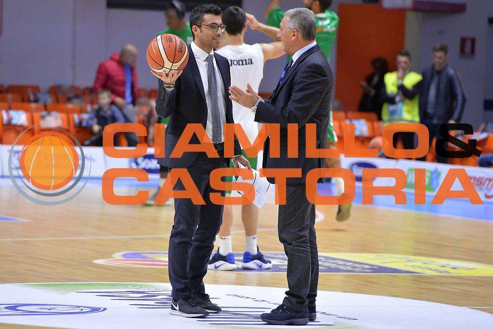 Marino Tullio , Antonio Celeste<br /> Happycasa Basket Brindisi - Sidigas Avellino<br /> Legabasket serieA 2017-2018<br /> Brindisi , 15/11/2017<br /> Foto Ciamillo-Castoria/ M.Longo
