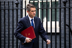 © Licensed to London News Pictures. 29/01/2019. London, UK. Defence Secretary Gavin Williamson leaves 10 Downing Street after attending a Cabinet meeting this morning. Photo credit : Tom Nicholson/LNP