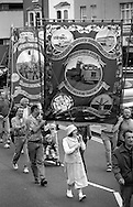 Barnsley Area Road Transport Branch banner. 1994 Yorkshire Miners Gala. Doncaster.
