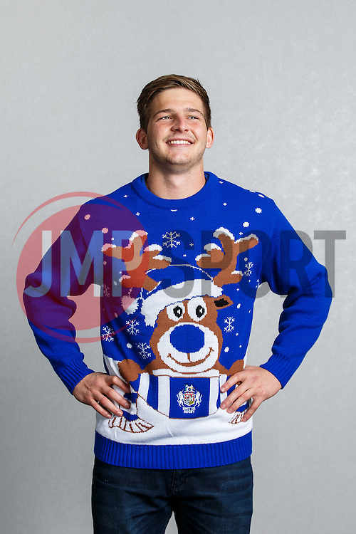 Auguy Slowik of Bristol Rugby show off the new Bristol Sport Rugby Christmas Jumper - Mandatory byline: Rogan Thomson/JMP - 12/11/2015 - RUGBY UNION - Ashton Gate Stadium - Bristol, England - Bristol Sport Christmas Jumper Launch.
