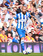 Brighton defender Bruno Saltor surges forward during the Sky Bet Championship match between Brighton and Hove Albion and Hull City at the American Express Community Stadium, Brighton and Hove, England on 12 September 2015. Photo by Bennett Dean.