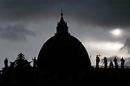 Roma 7 Giugno 2008.La cupola della Basilica di San Pietro.<br /> The dome of St. Peter's Basilica