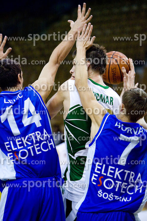 Gasper Vidmar of Olimpija at Superpokal basketball match between KK Union Olimpija and Elektra Esotech, on September 27, 2009, in Arena Tivoli, Ljubljana, Slovenia. Olimpija won 95:62.  (Photo by Vid Ponikvar / Sportida)