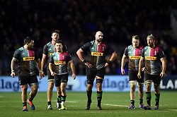 Harlequins players look on - Mandatory byline: Patrick Khachfe/JMP - 07966 386802 - 01/12/2019 - RUGBY UNION - The Twickenham Stoop - London, England - Harlequins v Gloucester Rugby - Gallagher Premiership