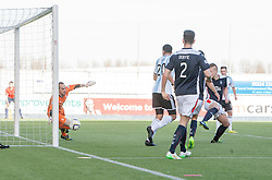 Hearts Genero Zeefuik second goal.<br /> Falkirk 0 v 3 Hearts, Scottish Championship game played 21/3/2015 at The Falkirk Stadium.