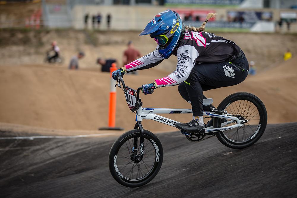 #741 (LOCKWOOD Erin) AUS at Round 3 of the 2020 UCI BMX Supercross World Cup in Bathurst, Australia.