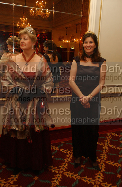 Princess Dmitri Lobanov-Rostovsky and  Mrs. Michael Cripps Director of the charity. The St. Petersburg Ball, In aid of the Children's Fire and Burn Trust-Russia 2005.  The Cafe Royal. 3 February 2006. -DO NOT ARCHIVE-© Copyright Photograph by Dafydd Jones 66 Stockwell Park Rd. London SW9 0DA Tel 020 7733 0108 www.dafjones.com