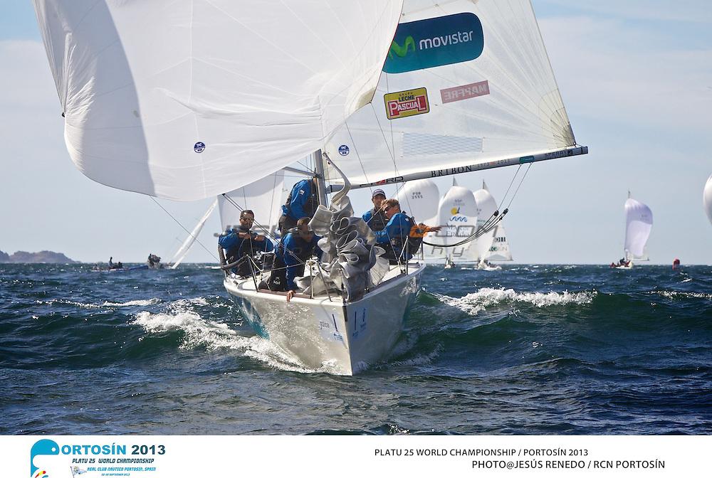 Platu 25 World Championships, Portosín , Galicia, Spain. 24-29 September 2013 . Day 3 ©
