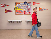 "Parker Elementary students pass through ""University Avenue"" on their way to lunch, April 19, 2013."