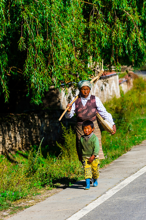 Gonggar, Shannan Prefecture, Tibet (Xizang, China).