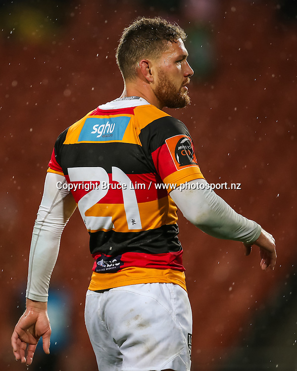Waikato replacement Tawera Kerr-Barlow during round 3 of the Mitre 10 Cup rugby union national provincial championship - Waikato v Manawatu played at FMG Stadium Waikato, Hamilton, New Zealand on Sunday 4 September 2016.  <br /> <br /> Copyright Photo: Bruce Lim / www.photosport.nz