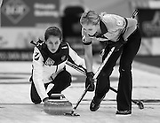 "Glasgow. SCOTLAND.  Russia's ""Vice Skip"", Uliana VISILEVA, during the Round Robin"" Games. Le Gruyère European Curling Championships. 2016 Venue, Braehead  Scotland<br /> Monday  21/11/2016<br /> <br /> [Mandatory Credit; Peter Spurrier/Intersport-images]"