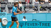 Tennis - 2019 Queen's Club Fever-Tree Championships - Day Six, Saturday<br /> <br /> Men's Singles, Semi Final: Daniil Medvedev (RUS) Vs. Gilles Simon (FRA) <br /> <br /> Gilles Simon (FRA) powers back the back hand return of serve on Centre Court.<br />  <br /> COLORSPORT/DANIEL BEARHAM