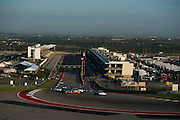 September 16, 2016:  Lamborghini Super Trofeo at Circuit of the Americas. Start of round 10, led by #77 Santino Ferrucci, HP Tech Motorsport, Lamborghini Broward, (PRO-AM), #07 Cedric Sbirrazzuoli, Lawrence DeGeorge, Dream Racing, Lamborghini Las Vegas
