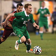 Stephen Quinn, Ireland, in action during the Portugal V Ireland International Friendly match in preparation for the 2014 FIFA World Cup in Brazil. MetLife Stadium, Rutherford, New Jersey, USA. 10th June 2014. Photo Tim Clayton