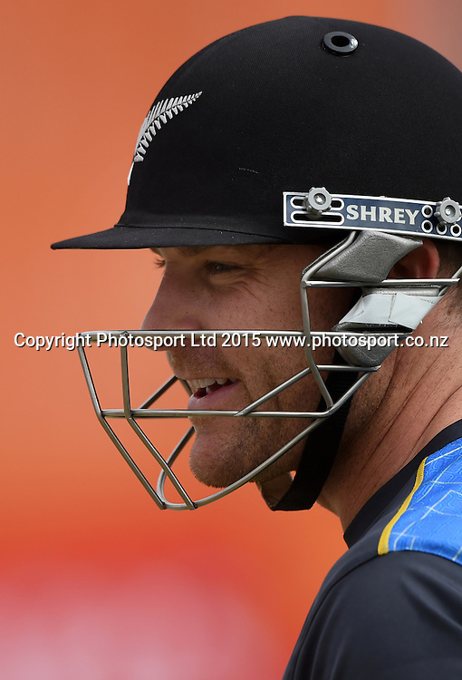 Brendon McCullum during training at Eden Park in Auckland ahead of the semi final Cricket World Cup match against South Africa tomorrow. Monday 23 March 2015. Copyright photo: Andrew Cornaga / www.photosport.co.nz