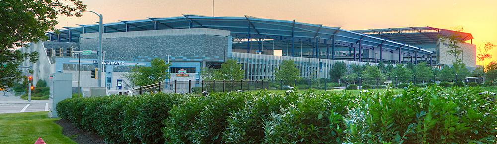 Sporting Park, sports stadium for Sporting Kansas City Major League Soccer club, Kansas City, Kansas. Taken on assignment for Performance Automotive.