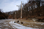 The recently razed Lincoln Way, an abandoned 52-lot street on the edge of town. Lincoln Way was known to be a nice neighborhood back in Clairton's heyday.<br /> <br /> When the Clairton Coke Works employed 5,000 workers and ran three shifts, Clairton had three movie theaters and four car dealerships. Now the plant employs 1,300 workers and residents must drive five miles out of town to buy food since there is no longer a grocery store in town.