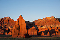 Temple of the Moon at first light, Cathedral Valley Loop, Capitol Reef National Park, Utah
