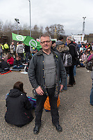 Brendan O'Hara, local SNP candidate at the Trident base in Faslane where Great Britain keeps its nuclear submarines.