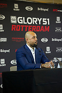 SCHIPHOL - Badr Hari en Hesdy Gerges bij de presentatie van GLORY 51 Rotterdam in het Steinberger Airport Hotel op Schphol.  copyrugh robin utrecht