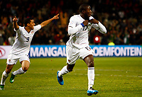 Jozy Altidore of USA and Villarreal celebrates his goal. FIFA Confederations Cup South Africa 2009 Semi-Final Spain v United States of America<br />  at Free State Stadium Bloemfontein South Africa<br /> 24/06/2009 Credit Colorsport / Kieran Galvin <br /> <br /> <br /> <br /> <br /> <br /> <br /> <br /> <br />  <br /> <br /> <br /> <br /> <br /> <br /> <br /> <br /> <br /> 17\