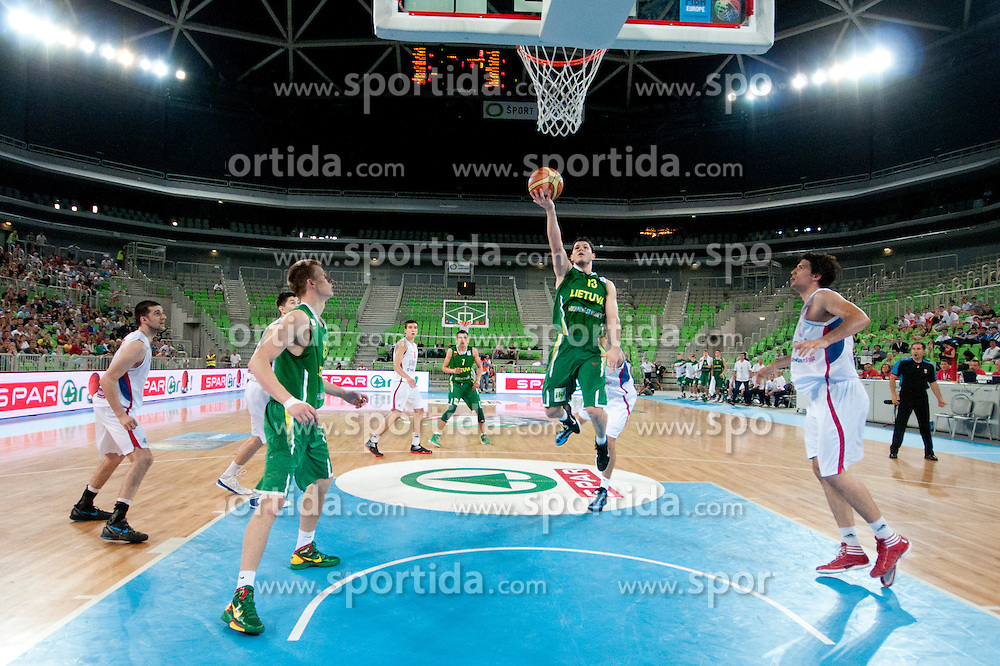 Vytenis Cizauskas of Lithuania during basketball match between National teams of Serbia and Lithuania in semifinal of U20 Men European Championship Slovenia 2012, on July 21, 2012 in SRC Stozice, Ljubljana, Slovenia. (Photo by Urban Urbanc / Sportida.com)