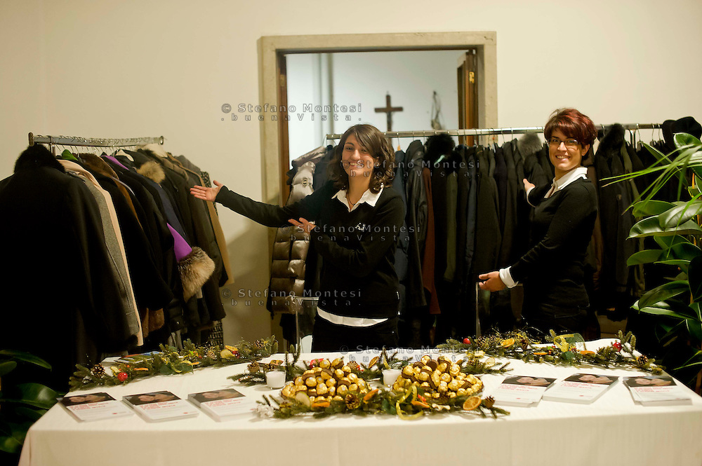 Roma 10 Dicembre 2013<br /> Cena di beneficenza organizzata dalla Caritas diocesana di Roma, alla Case famiglia di Villa Glori,  a sostegno delle attivit&agrave; Caritas per i senza dimora.