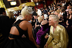 After winning the Oscar® for music written for motion pictures (original song), Lady Gaga and Glenn Close during the live ABC Telecast of The 91st Oscars® at the Dolby® Theatre in Hollywood, CA on Sunday, February 24, 2019.