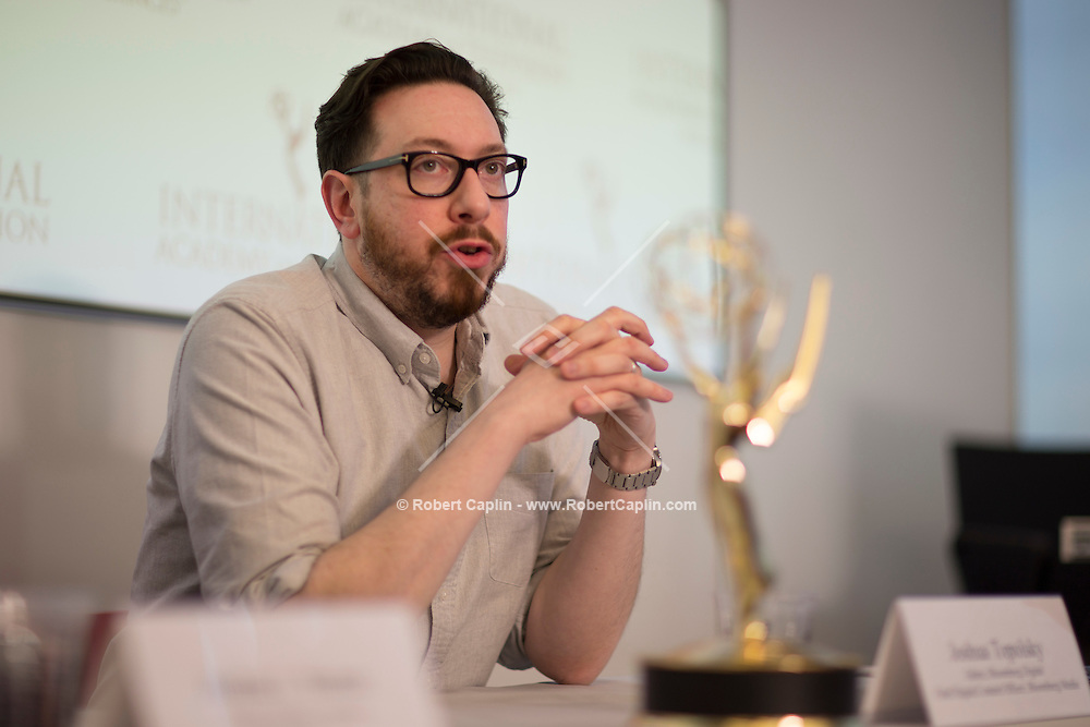 International Emmys Board Meeting at Bloomberg LP in New York March 13, 2015.<br /> <br />  Photo &copy; Robert Caplin