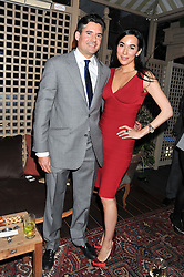 EDWARD TAYLOR and ALEXANDRA MEYERS at a dinner hosted by Edward Taylor and Alexandra Meyers in association with Johnnie Walker Blue Label held at Mark's Club, 46 Charles Street, London W1 on 26th April 2012.
