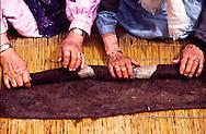 Master felt-makers Zeken Zarykpai-Kyzy Sygayeva and Kaineke Zarykpai-Kyzy Kanapyanova, Abai village, Kazakhstan