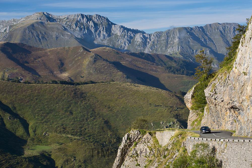 Car journey in Parc National des Pyrenees Occident, France
