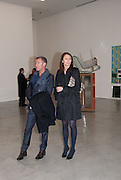 GRANT PEARCE; CAROLINE RUSH, Editor of Wallpaper: Tony Chambers and architect Annabelle Selldorf host drinks to celebrate the collaboration between the architect and three of Savile Row's finest: Hardy Amies, Spencer hart and Richard James. Hauser and Wirth Gallery. ( Current show Isa Genzken. ) savile Row. London. 9 January 2012.