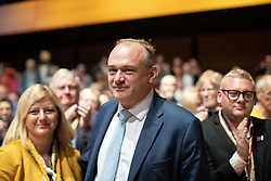 © Licensed to London News Pictures . 16/09/2019. Bournemouth, UK. Deputy Leader ED DAVEY takes his place amongst the audience after delivering his speech during the Liberal Democrat Party Conference at the Bournemouth International Centre . Photo credit: Joel Goodman/LNP