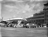 1958 - Arrival of Seaboard Super Constellation due to begin Aer Lingus' first transatlantic service