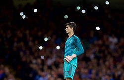 CARDIFF, WALES - Thursday, October 11, 2018: Spain's goalkeeper Kepa Arrizabalaga during the International Friendly match between Wales and Spain at the Principality Stadium. (Pic by David Rawcliffe/Propaganda)