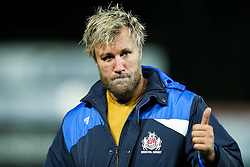 Jordan Crane (capt) of Bristol Rugby looks dejected after Gloucester Rugby win 26-18 - Rogan Thomson/JMP - 03/12/2016 - RUGBY UNION - Kingsholm Stadium - Gloucester, England - Gloucester Rugby v Bristol Rugby - Aviva Premiership.