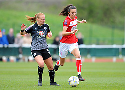 Molly Bartrip of Reading Women challenges Rosella Ayane of Bristol City - Mandatory by-line: Nizaam Jones/JMP- 31/03/2019 - FOOTBALL - Stoke Gifford Stadium - Bristol, England - Bristol City Women v Reading Women - FA Women's Super League 1