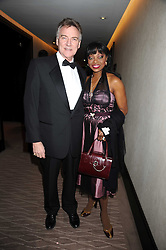 Singer PATTI BOULAYE and her husband MR STEPHEN KOMLOSY at the 2008 Costa Book Awards held at the Intercontinental Hotel, Hamilton Place, London on 27th January 2009.