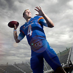***Illustration. Boise State football quarterback  Brett Rypien (4). Friday September 25, 2015.