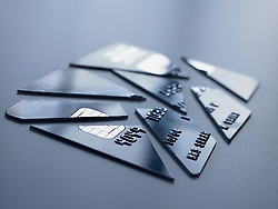 Dec. 14, 2012 - Cut up credit card (Credit Image: © Image Source/ZUMAPRESS.com)