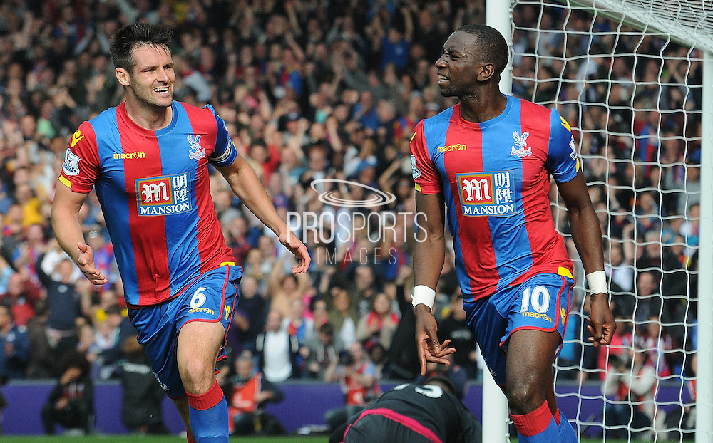 Yannick Bolasie celebrates his goal during the Barclays Premier League match between Crystal Palace and West Bromwich Albion at Selhurst Park, London, England on 3 October 2015. Photo by Michael Hulf.