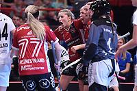 2019-04-27 | Stockholm, Sweden: Kais Mora IF (21) Moa Gustafsson during the game between KAIS Mora IF and Täby FC IBK at Ericsson Globe Arena ( Photo by: Simon Holmgren | Swe Press Photo )<br /> <br /> Keywords: Ericsson Globe Arena, Stockholm, Floorball, SM-Final, KAIS Mora IF, Täby FC IBK