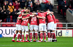 Bristol City team huddle  - Mandatory by-line: Joe Meredith/JMP - 27/01/2018 - FOOTBALL - Ashton Gate Stadium - Bristol, England - Bristol City v Queens Park Rangers - Sky Bet Championship