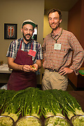 Chef Andrew Mace, Le Pigeon, and Farmer Josh Volk, with Frank Morton's fennel.  Mace's tasting included a Carmelized fennel dip w/beef fat fried potato chips.