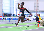 Shekinah Wilder competes in the triple jump  during the USA Indoor Track and Field Championships in Staten Island, NY, Sunday, Feb 24, 2019. (Rich Graessle/Image of Sport)