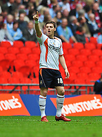Chris Martin  of Luton Town celebrates his goal<br />  Luton Town vs Scunthorpe United<br /> Johnstone's Paint Trophy, Wembley Stadium, UK<br /> 05/04/2009. Credit Colorsport/Dan Rowley
