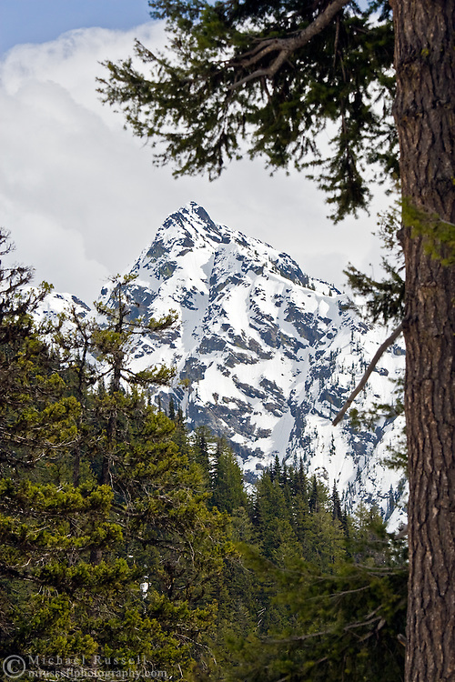 Stiletto Peak in North Cascades National Park, Washington State, USA.